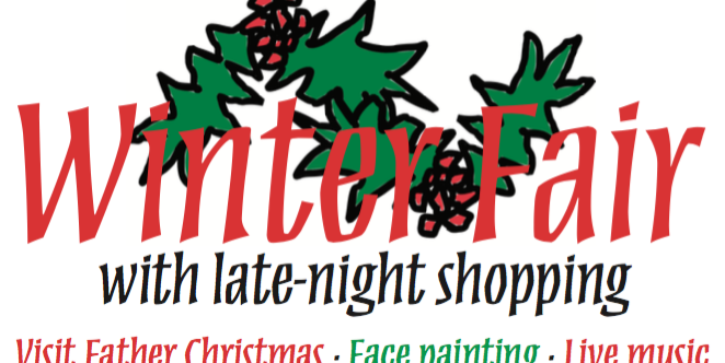 2019 Winter Fair opening: 5pm to 7pm, Friday 6th December (to be confirmed)